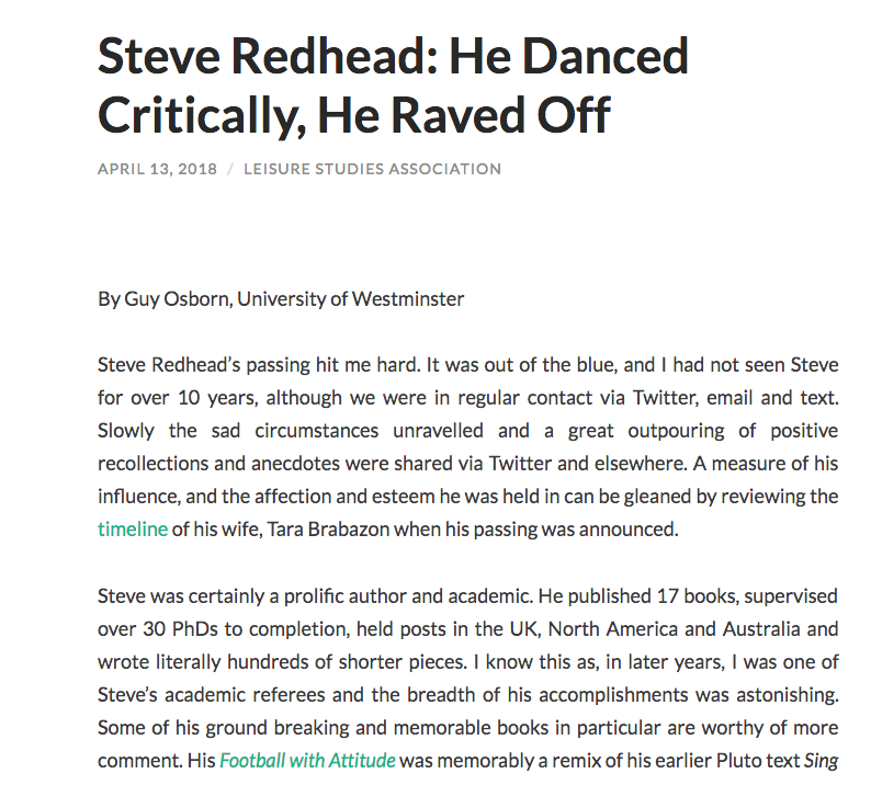Law and Popular Culture: Remembering Steve Redhead