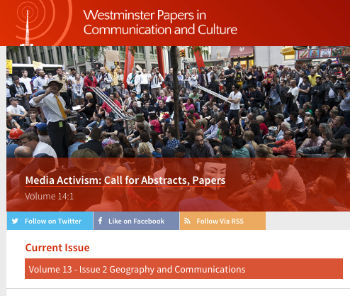 Media Activism: WPCC deadline for abstracts end 21stJanuary