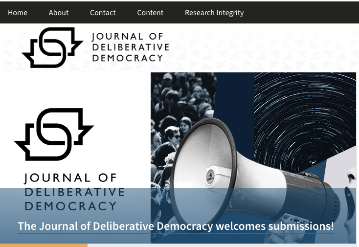 Journal of Deliberative Democracy relaunched